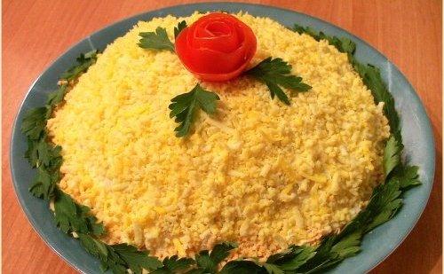 рецепты салатов с семгой с фото