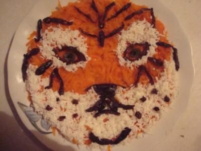 салат тигр для нового года 2010 5