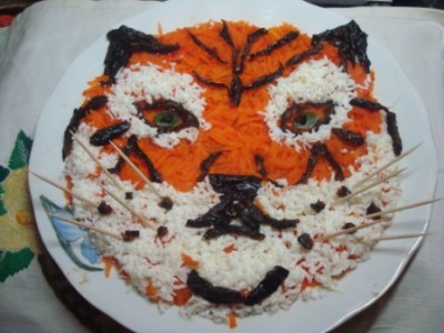 салат тигр к новому году 2010